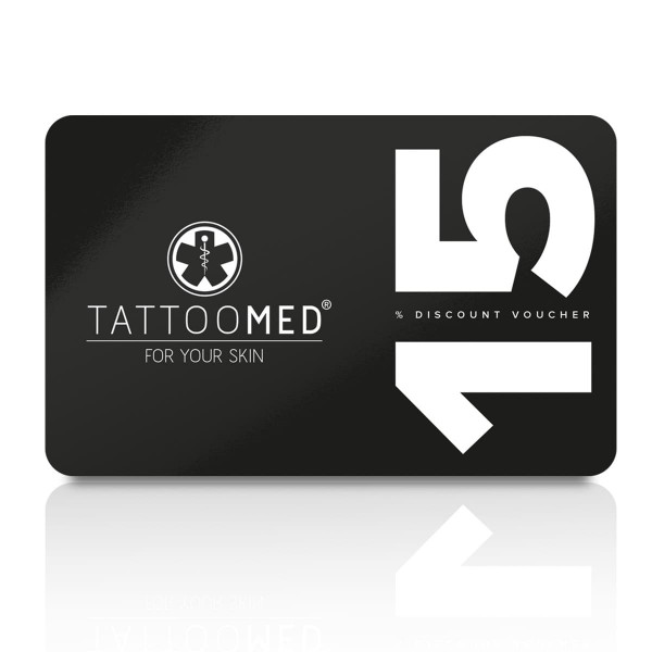 TattooMed 15% Discount card for your customers - 25st.